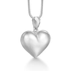 Søtt rs of scandinavia hjerte anheng med halskjede i sølv
