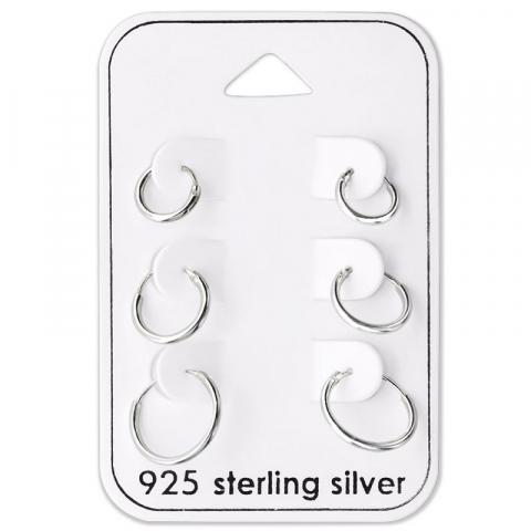 8 x 10 x 12 mm creol i sølv