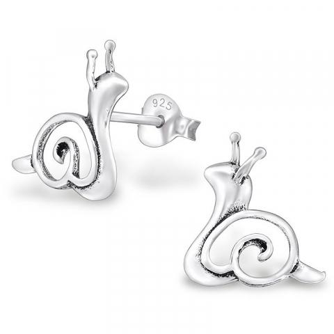 Søte snegle øredobber i sølv