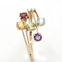 Flott gull ring i 8 karat