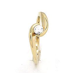 Vakker ring i 9 karat gull