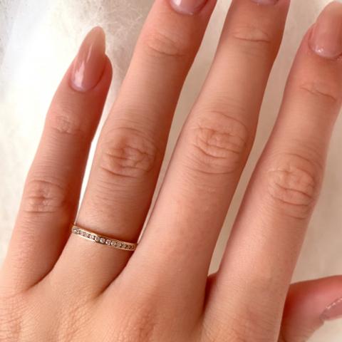 Smal ring i 9 karat rødt gull
