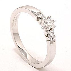bestillingsvare - diamant ring i 14 karat hvitt gull 0,20 ct 0,16 ct