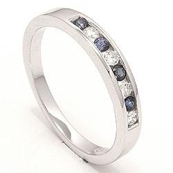 bestillingsvare - blå safir ring i 14 karat hvitt gull 0,12 ct 0,20 ct