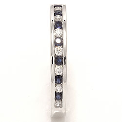 bestillingsvare - safir ring i 14 karat hvitt gull 0,17 ct 0,24 ct