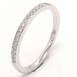 Diamant ring i 14 karat hvitt gull 0,09 ct