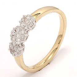 diamantring i 14 karat gull og hvitt gull 0,36 ct