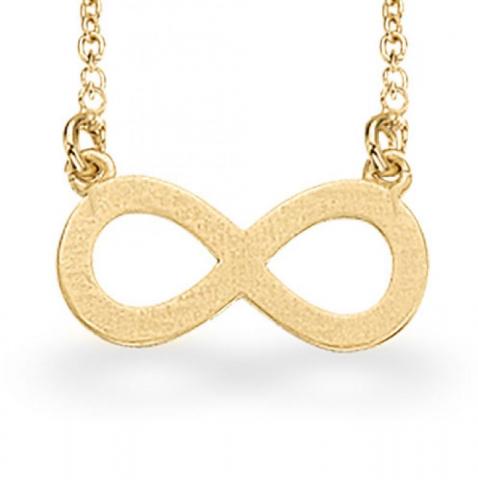 Elegant Scrouples infinity anheng med halskjede i forgylt sølv