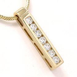 Diamantanheng i 14 karat gull 0,36 ct