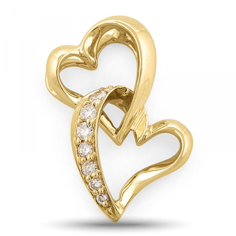 Diamantanheng i 14 karat gull 0,07 ct