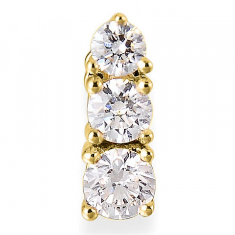 Diamantanheng i 14 karat gull 0,20 ct