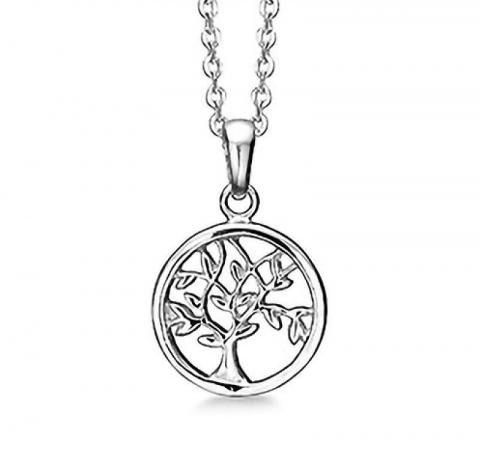 13 mm aagaard livets tre anheng med halskjede i sølv