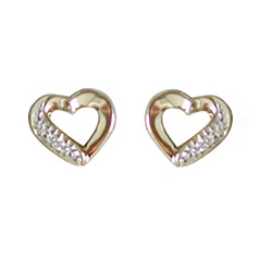Aagaard diamantøredobb i 14 karat gull med diamant