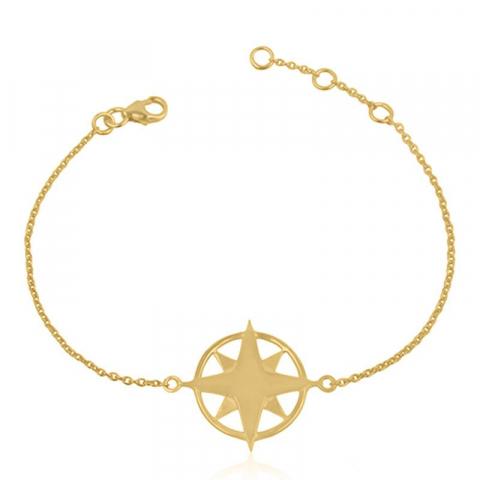 Stjerne armbånd i forgylt sølv med stjerne i forgylt sølv