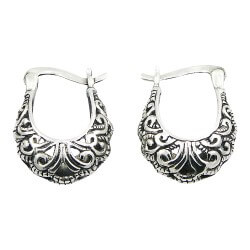 Søte mønstret ear lines i sølv