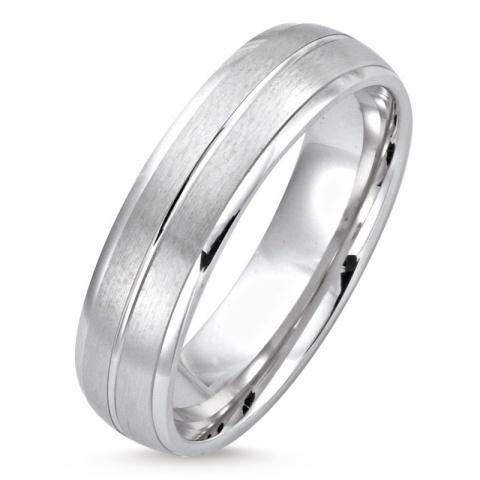 Elegant ring i rodinert sølv