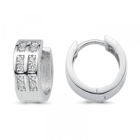 14 mm sølvcreoler i sølv