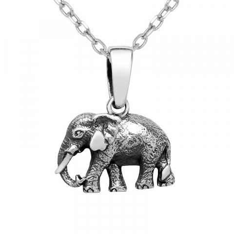 Fint elefant anheng i sølv