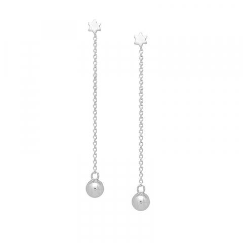 Billiige ear lines i sølv