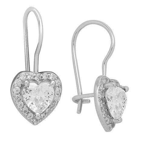 Fin hjerte ørestikker i sølv