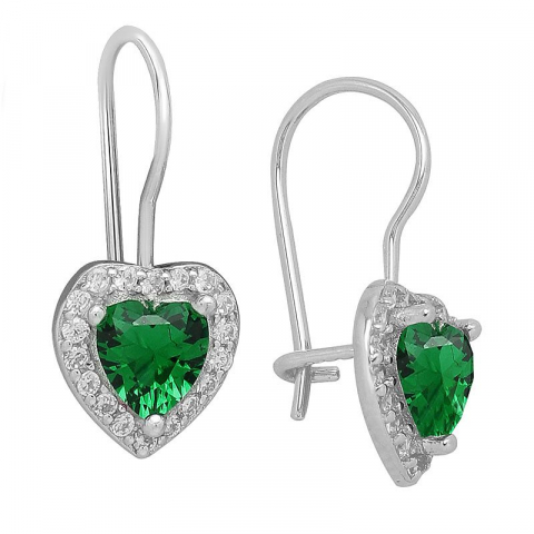 Nydelige hjerte øredobber i sølv