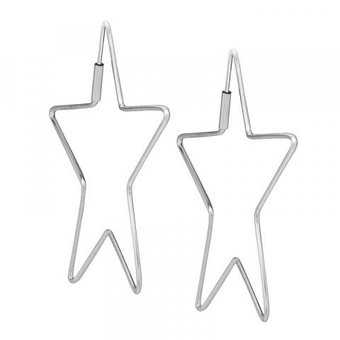 Moderne stjerne øredobber i sølv