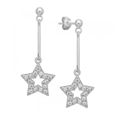 Smykker: stjerne ørestikker i sølv