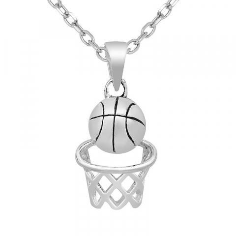 Lille basketball anheng i sølv