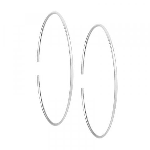 Ovale creol i sølv