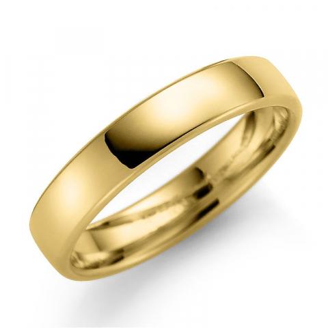 Blank 4 mm giftering i 9 karat gull
