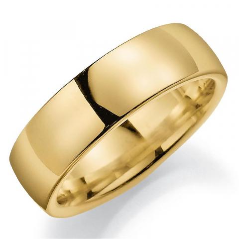 Bred 7 mm giftering i 9 karat gull
