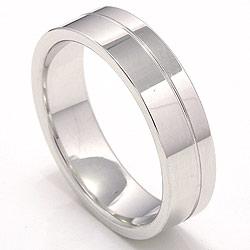 Eksklusiv giftering i 14 karat hvitt gull