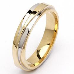 Spesial Tofarget giftering i 14 karat gull og hvitt gull