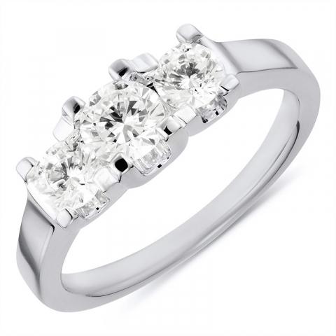 Søt ring i rodinert sølv