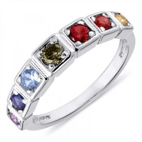 Fingerringer sølv ring i rodinert sølv