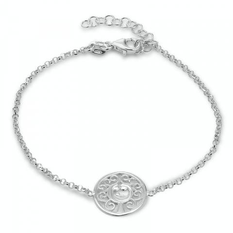 livets tre armbånd i sølv med anheng i sølv