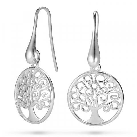 lange livets tre øredobber i sølv