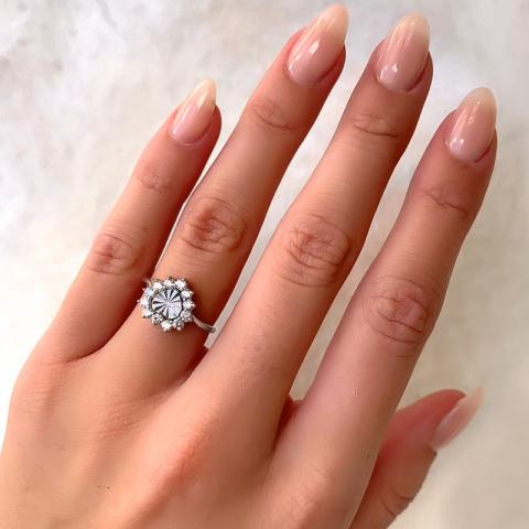 Flott hjerte ring i sølv