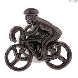 Store sykkelrytter øredobb i svart stål