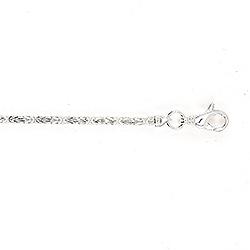 Enkelt kongehalskjede i sølv 45 cm x 2,4 mm