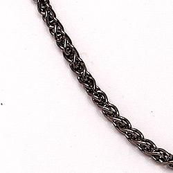 BNH hvetekjede i svart rodinert sølv 50 cm x 1,3 mm