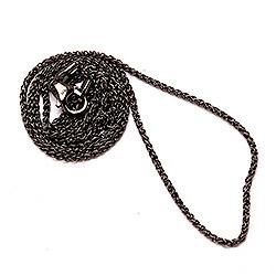 BNH hvetekjede i svart rodinert sølv 60 cm x 1,3 mm
