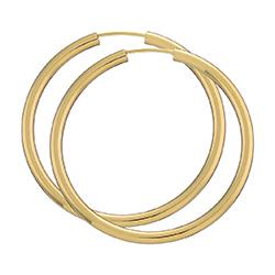 40 mm BNH creol øredobber i 14 karat gull