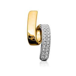 Vakkert diamant anheng i 14 karat gull 0,11 ct