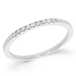 Smal diamant hvittgullsring i 14 karat hvitt gull 0,09 ct