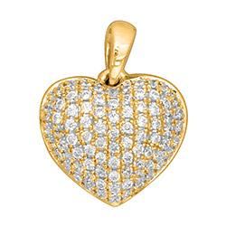 Trendy hjerte diamantanheng i 14 karat gull 0,30 ct