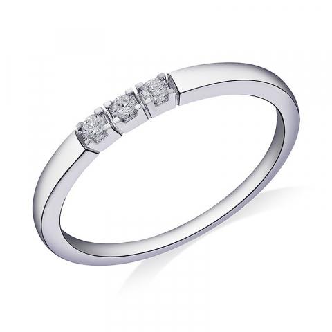 Diamant kolleksjonsprøve i 14 karat hvitt gull