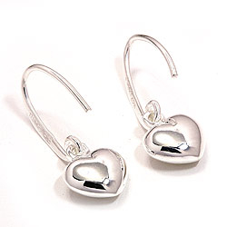 Hjerteøredobb i sølv