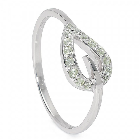 Søt blad ring i sølv