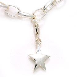 Stjerne charm i sølv